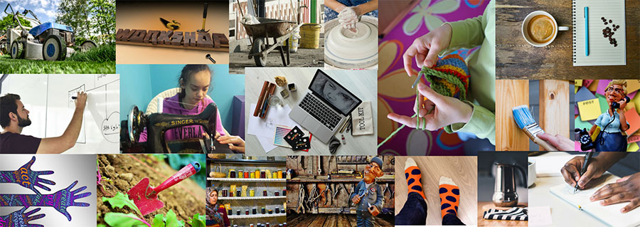 Collage of microenterprise images