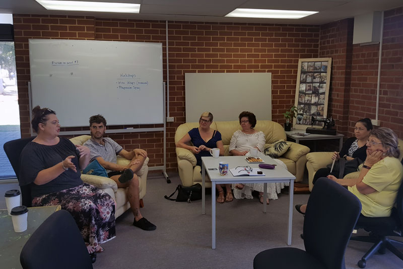 Image description: Valued Lives residents morning tea
