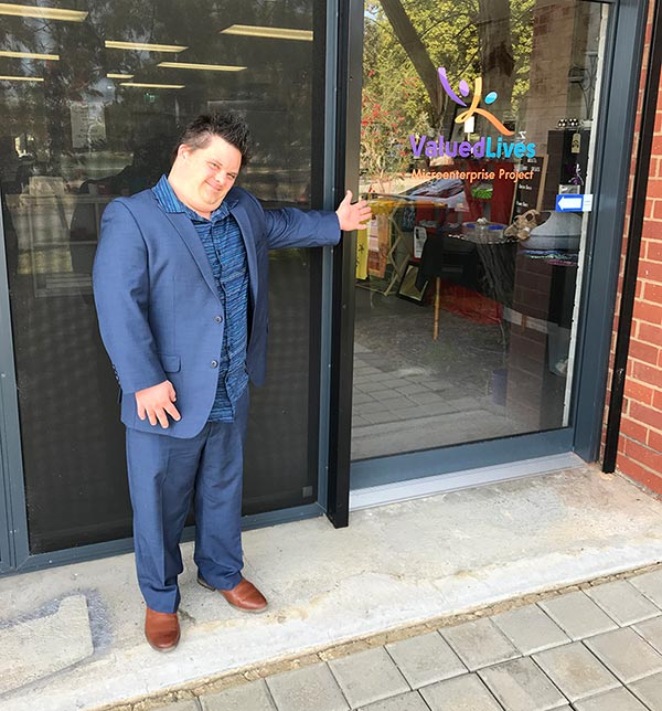 Image description: Being welcomed to the Fremantle Microenterprise Hubspace
