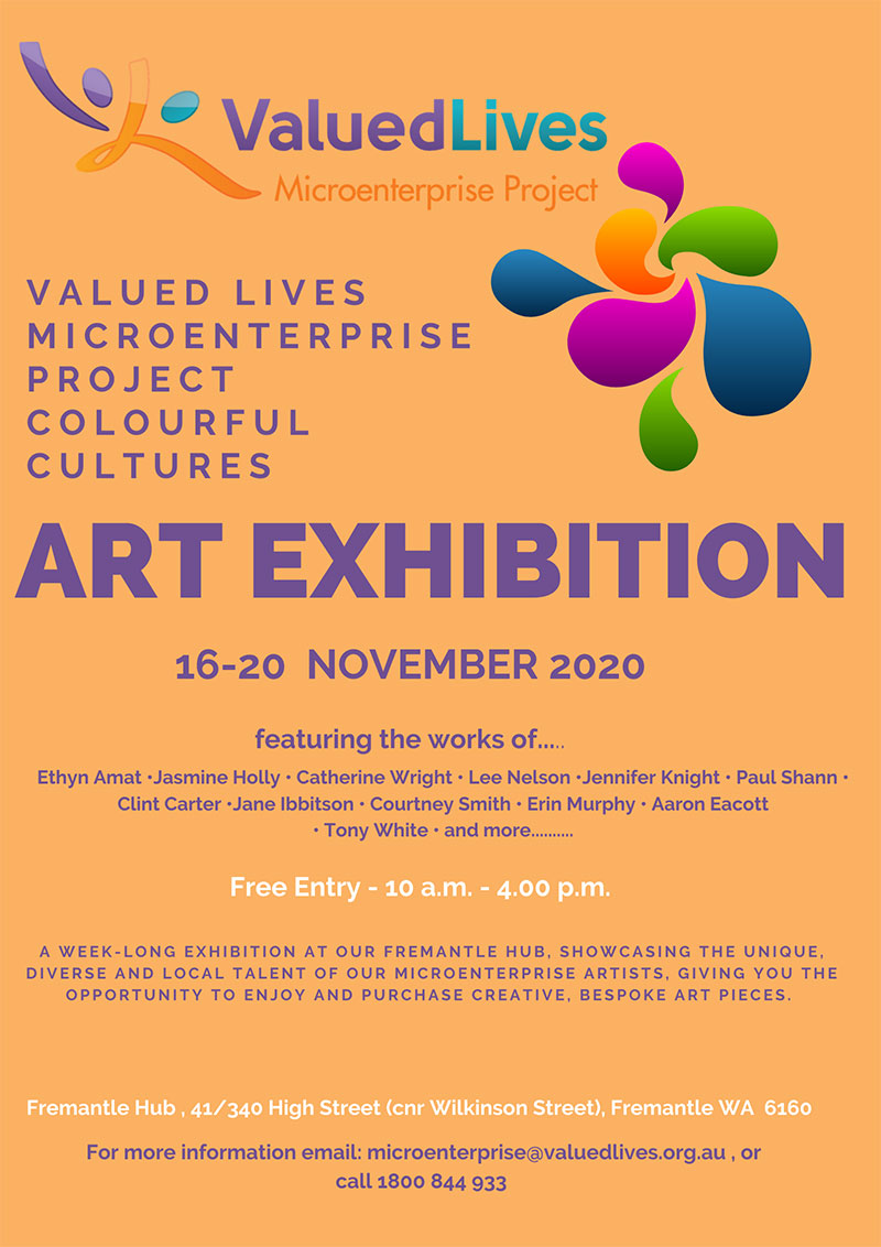 Image description: Microenterprise Art Exhibition Runway Event Poster