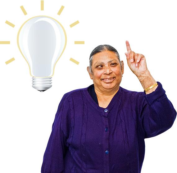 Image description: Person having a light-bulb moment
